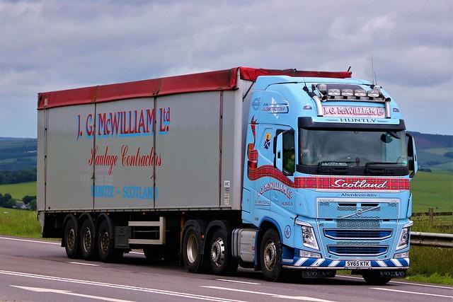 J G McWilliam Ltd Volvo FH Globetrotter SV65KTK