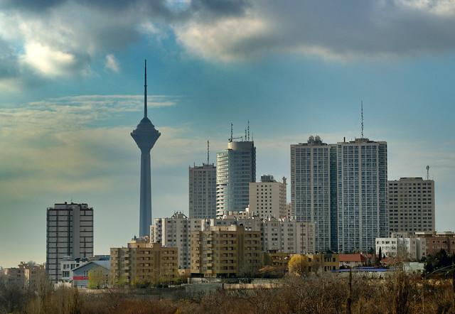 Tehran in the clouds, Iran