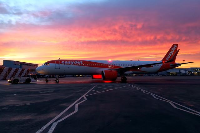 Sunset Departure (G-UZMG)