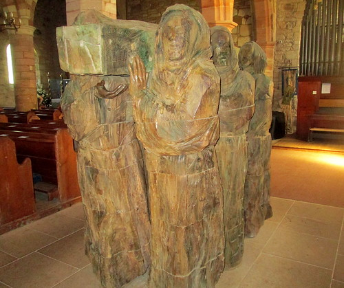 Sculpture in St Mary's Church Lindisfarne