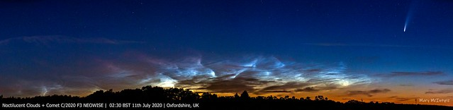 Noctilucent Clouds + Comet NEOWISE (Reprocess) 02:30 BST 11/07/20