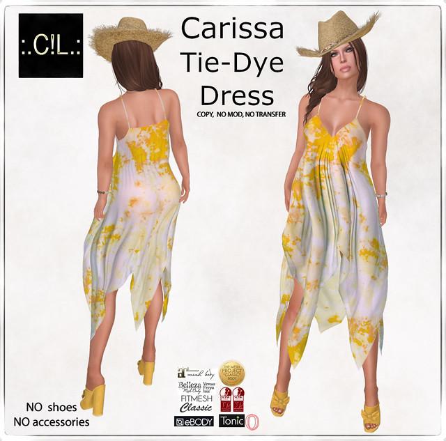 :.C!L.: Carissa Yellow Tie-Dye Beach Dress Set Poster