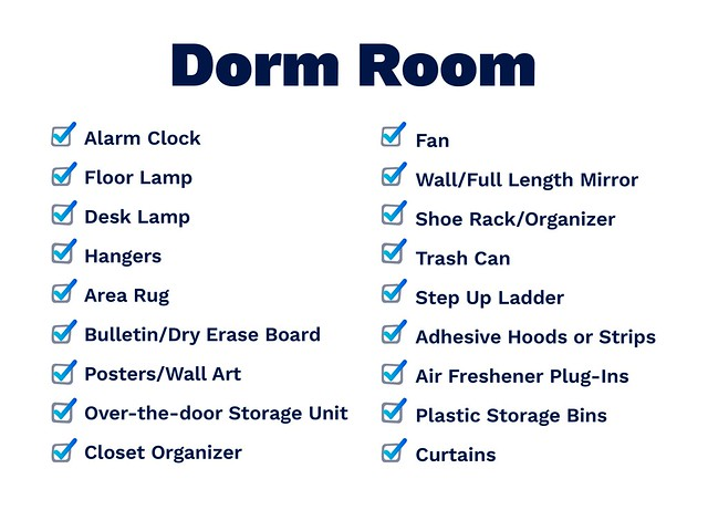 dorm room list