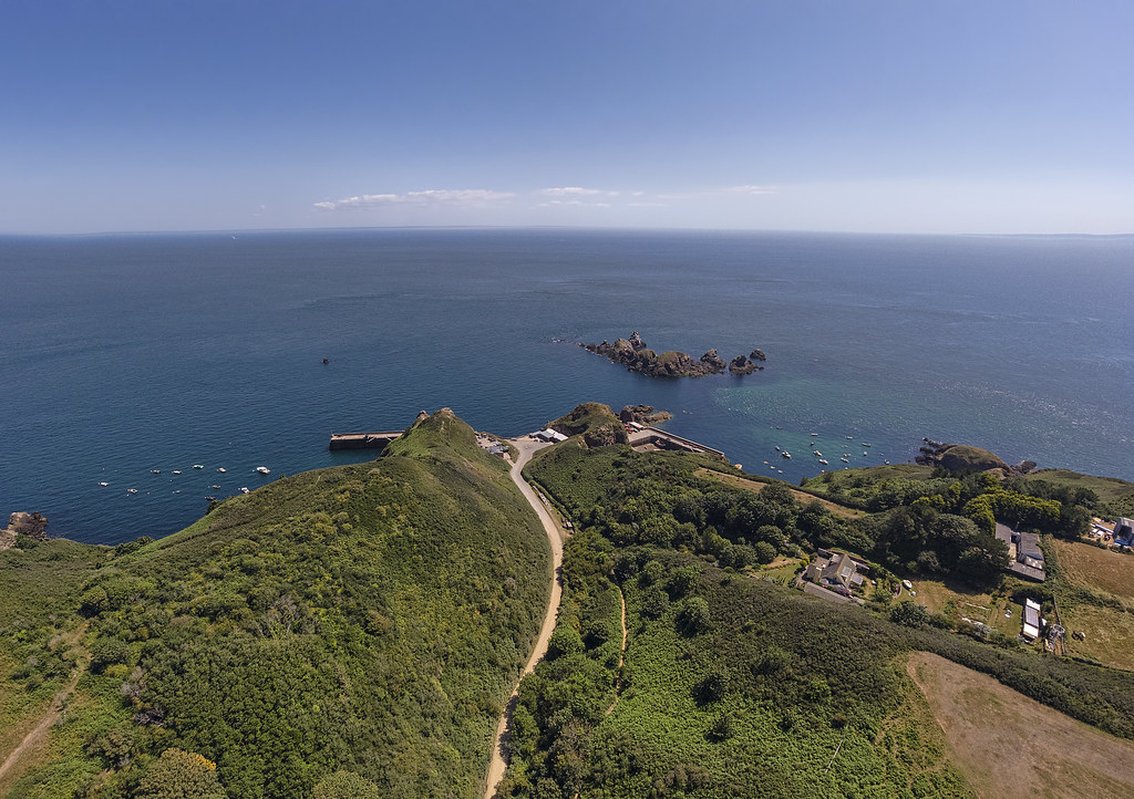 View down Harbour Hill, Sark