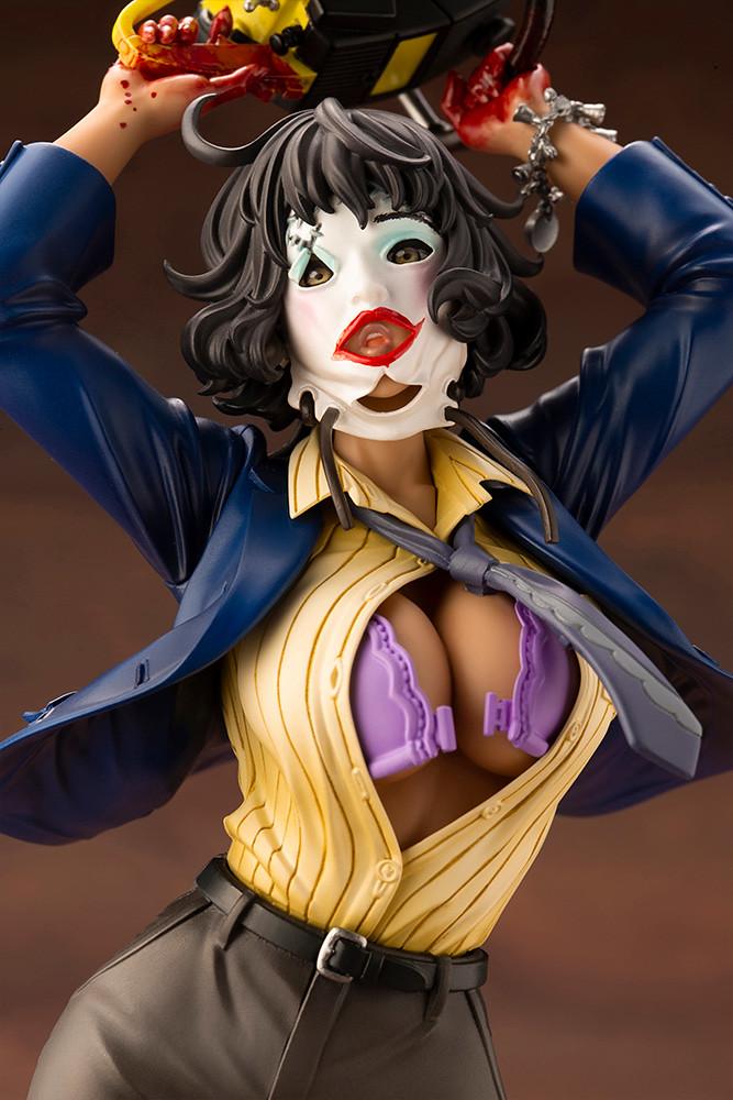 豔紅夕陽下狂舞的性感黑肉! 壽屋 HORROR美少女 系列《德州電鋸殺人狂》「皮臉(レザーフェイス)CHAINSAW DANCE」1/7 比例PVC塗裝完成品