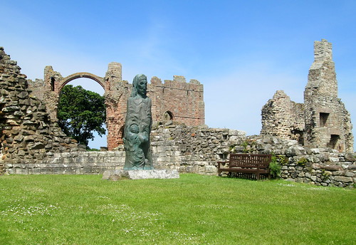 St Cuthbert's Statue, Lindisfarne Priory
