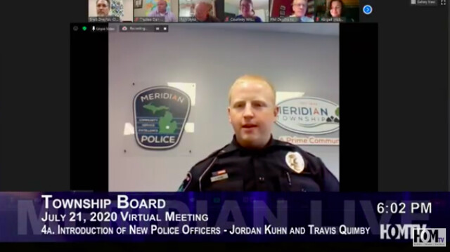 Two New Police Officers Join the Meridian Township Police Department