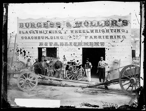 Burgess and Moller's blacksmithing, wheelwrighting, coachbuilding and farriering establishment, Hill End | by State Library of New South Wales collection