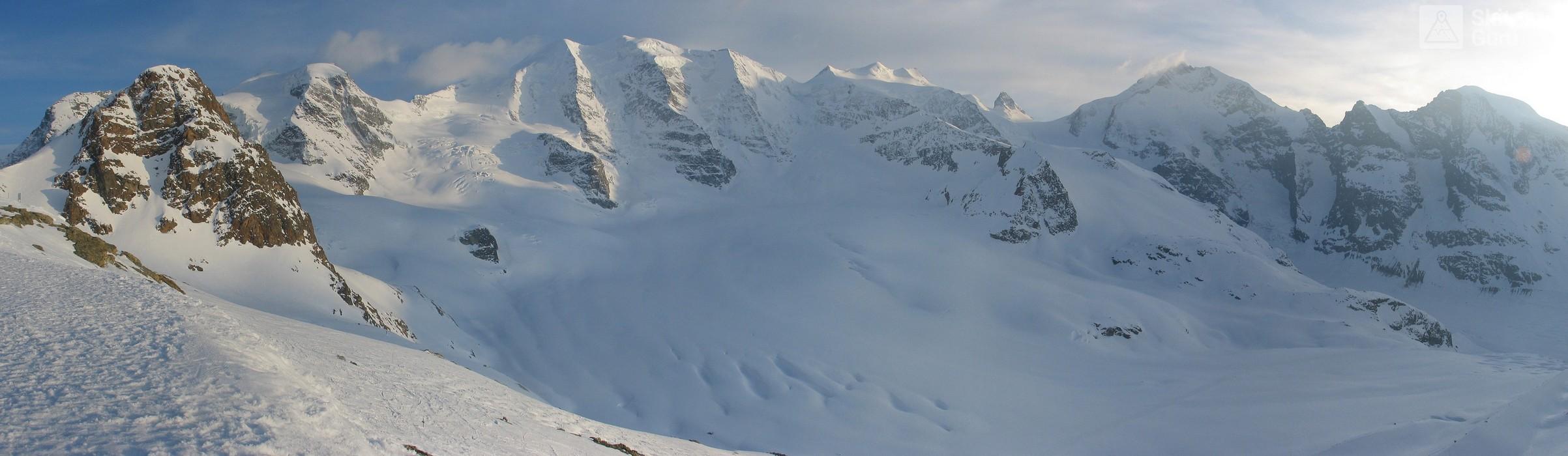 Morteratsch Glacier freetour Bernina Švýcarsko panorama 41