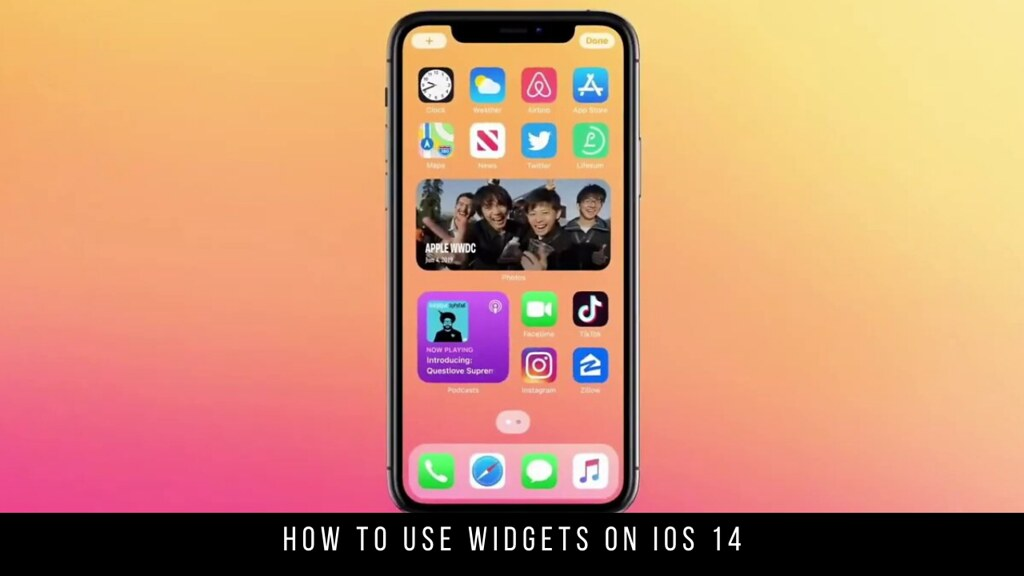 How to use widgets on iOS 14