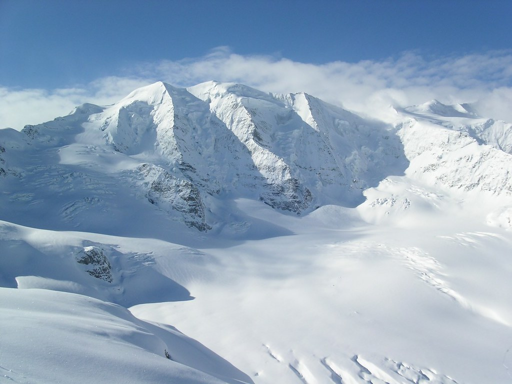 Morteratsch Glacier freetour Bernina Švýcarsko foto 11