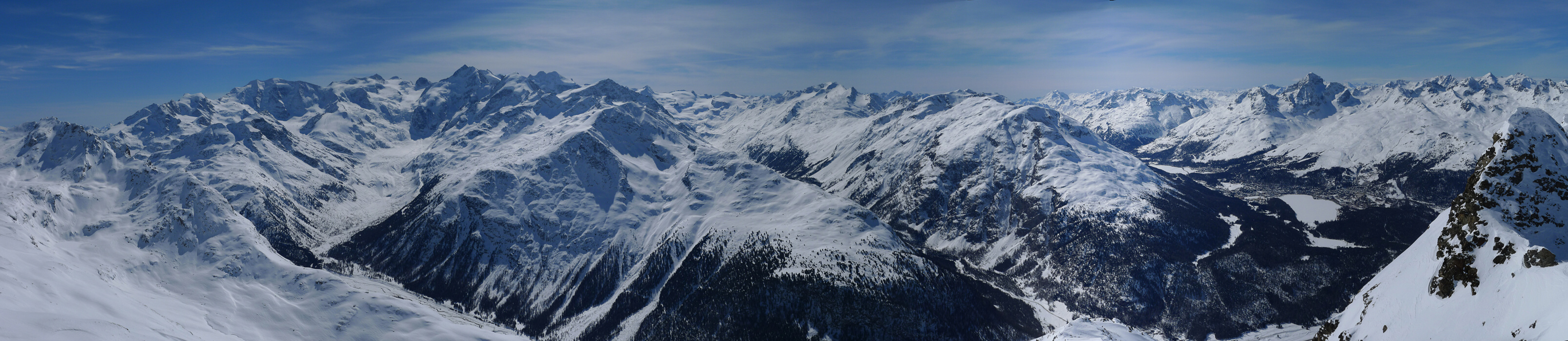 Piz Muragl Albula Alpen Švýcarsko panorama 39