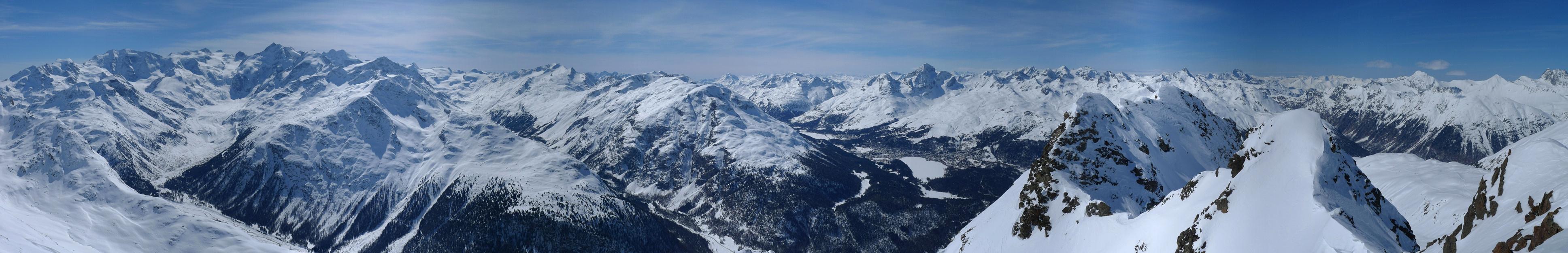 Piz Muragl Albula Alpen Švýcarsko panorama 30