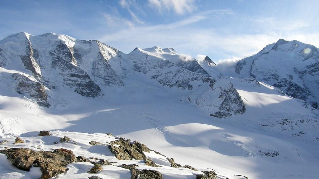 Morteratsch Glacier freetour Bernina Švýcarsko foto 06