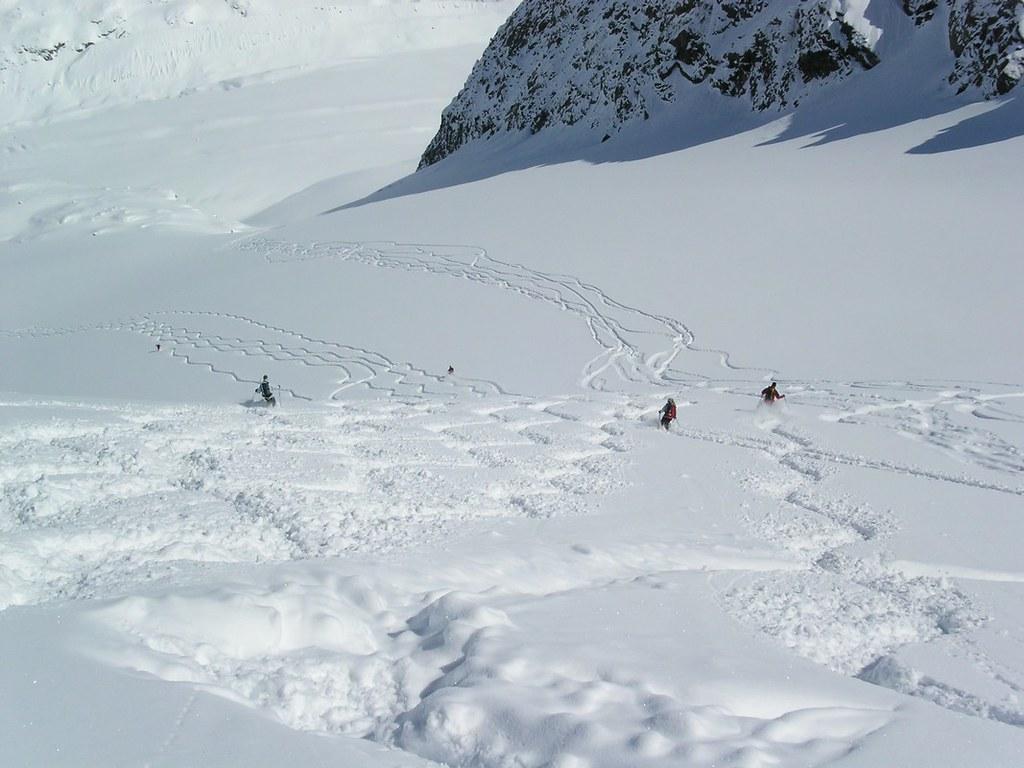 Morteratsch Glacier freetour Bernina Švýcarsko foto 21