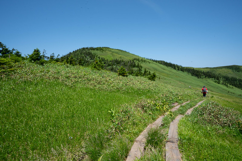 会津駒ヶ岳の稜線