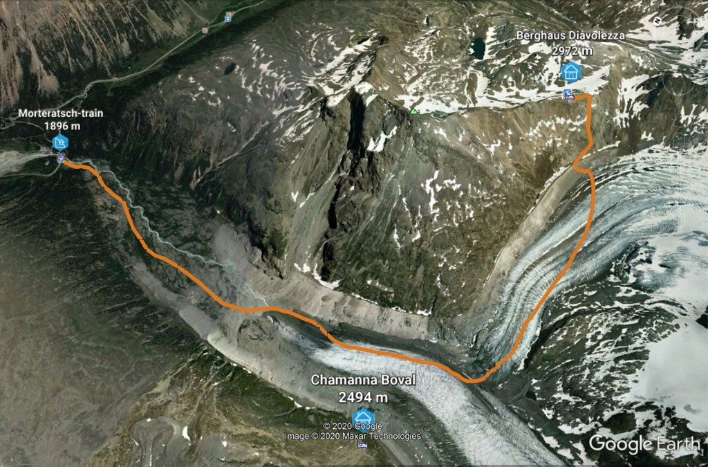 Morteratsch Glacier freetour Bernina Švýcarsko foto 04
