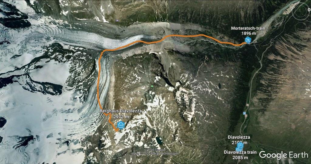 Morteratsch Glacier freetour Bernina Švýcarsko foto 02