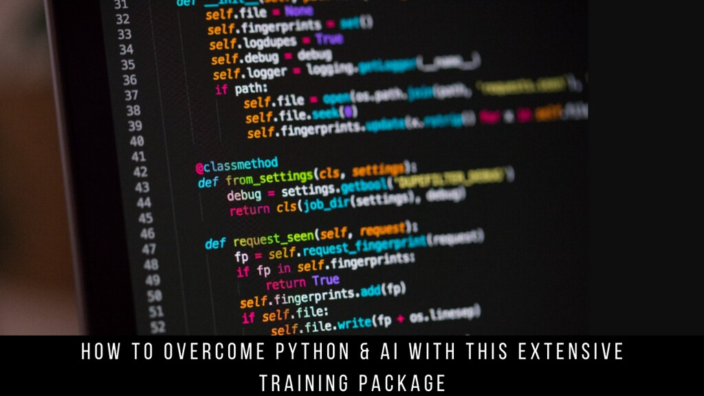 How to Overcome Python & AI with this Extensive Training Package