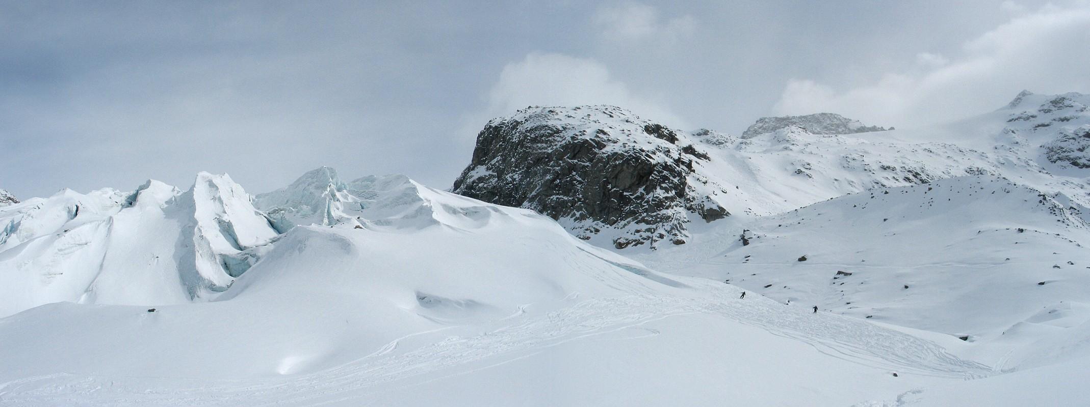 Morteratsch Glacier freetour Bernina Švýcarsko panorama 35