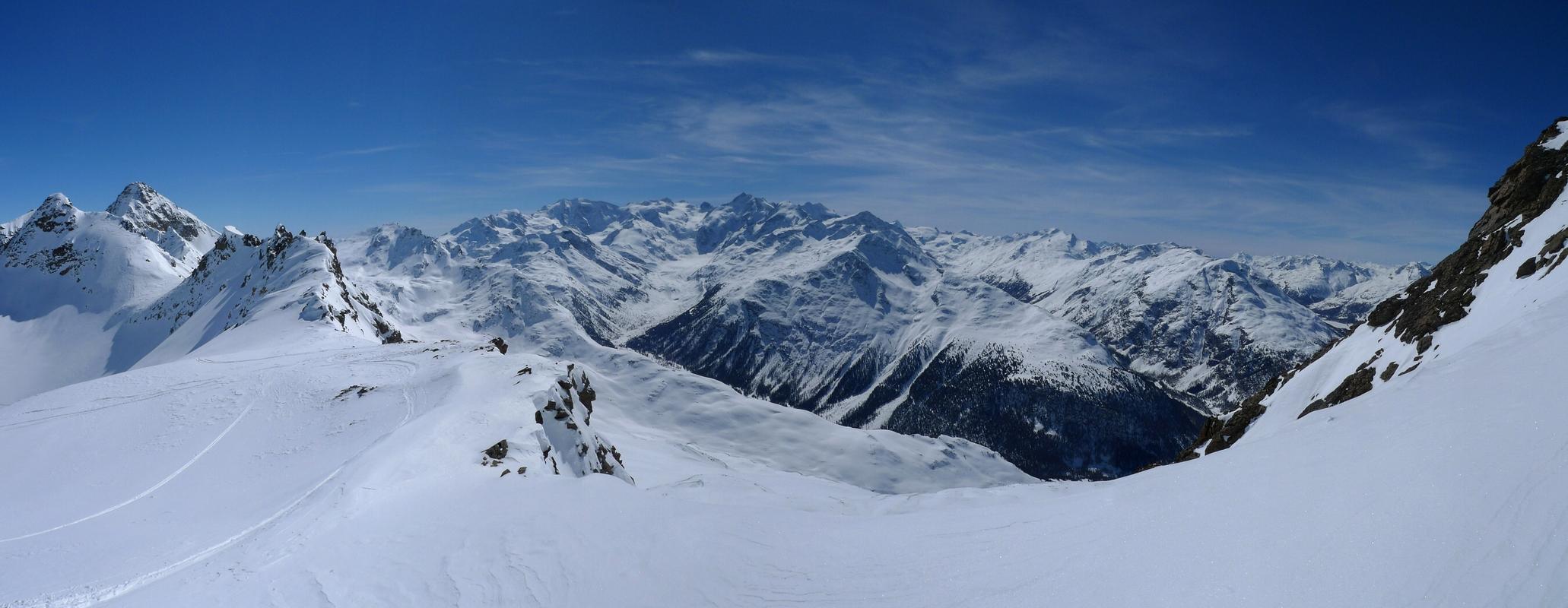 Piz Muragl Albula Alpen Švýcarsko panorama 24