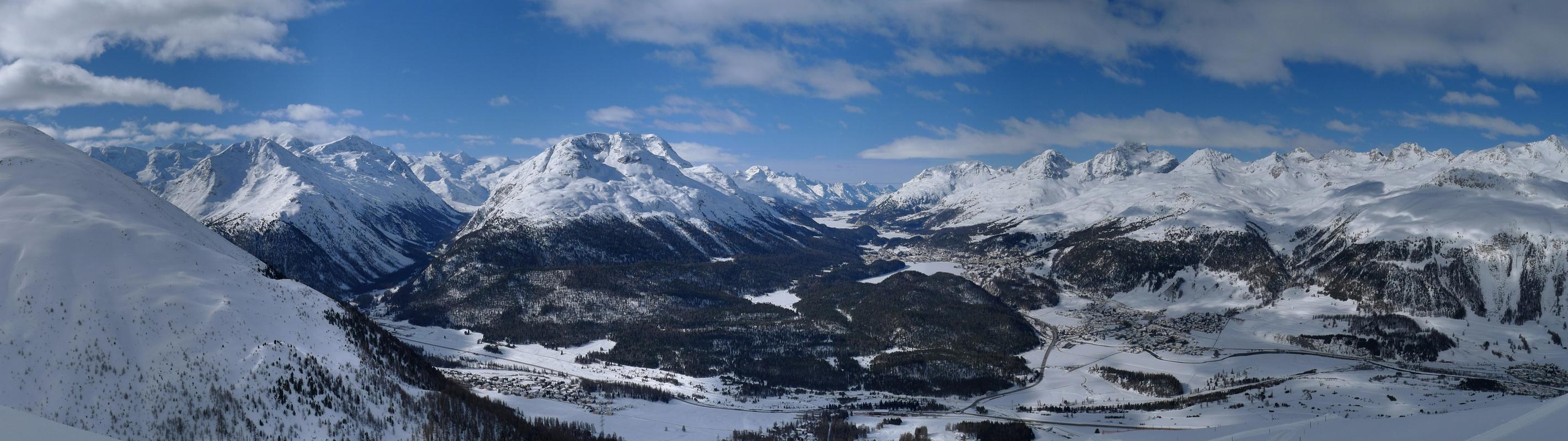 Piz Muragl Albula Alpen Švýcarsko panorama 11
