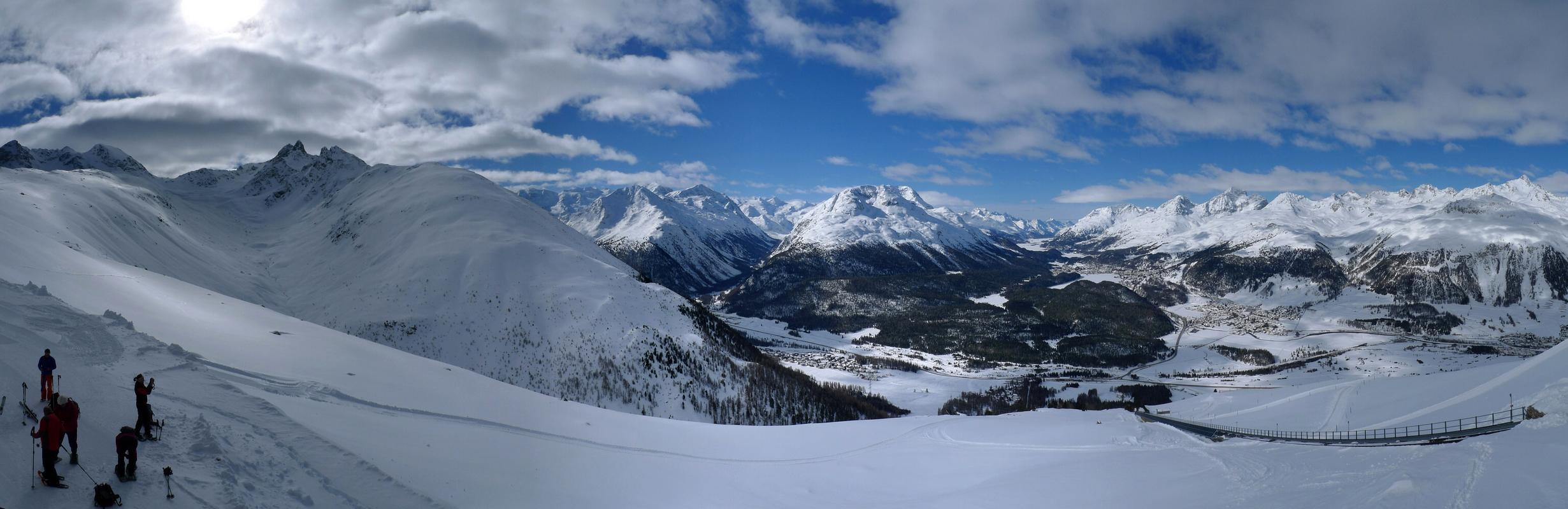 Piz Muragl Albula Alpen Švýcarsko panorama 13