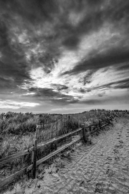 Sea Isle City Beachscape B&W