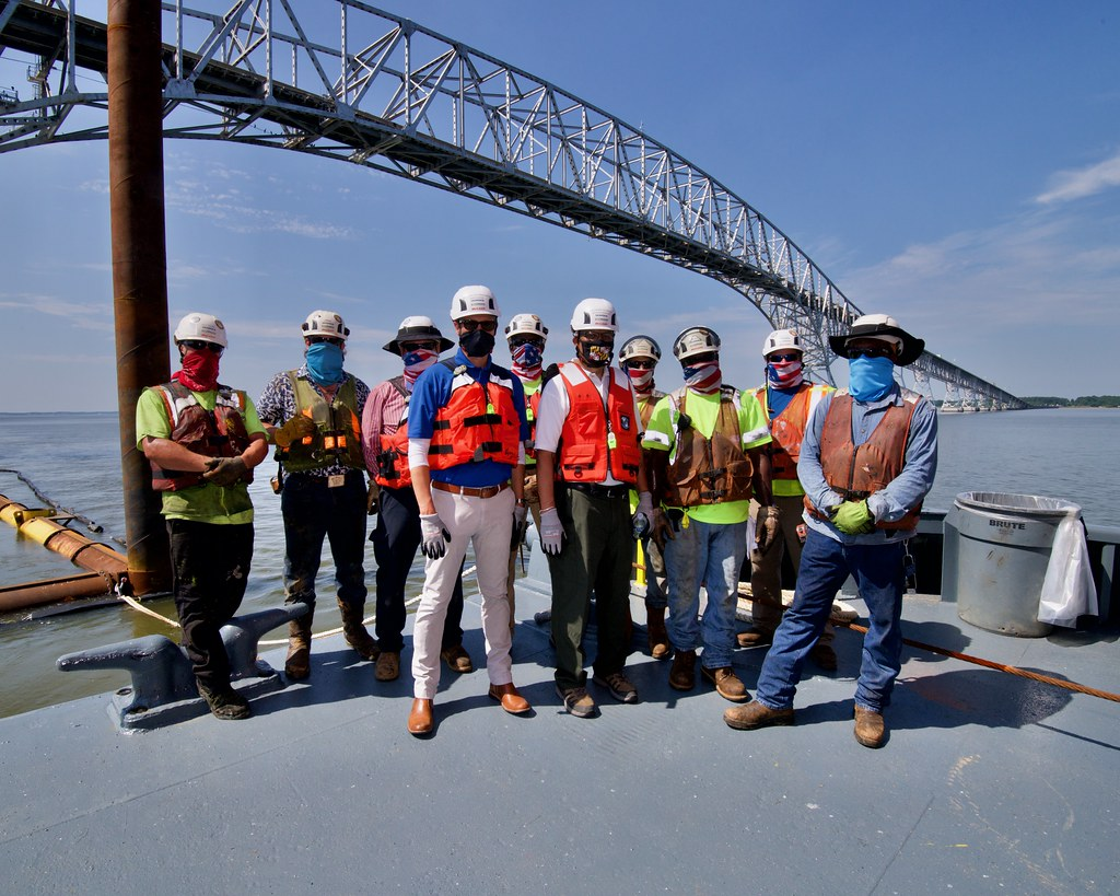 Lt. Governor's Site Visit to the Nice/Middleton Bridge Project