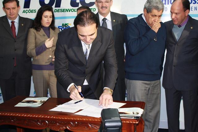 Assinatura da Ordem de Serviço - Ponte Piraputanga