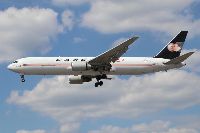 C-GVIJ  -  Boeing 767-328(ER)(BDSF)  -  Cargojet  -  LHR/EGLL 22/7/20.