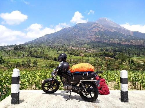 motorbiketrip mountmerapi volcanoview motorbike travelingtime