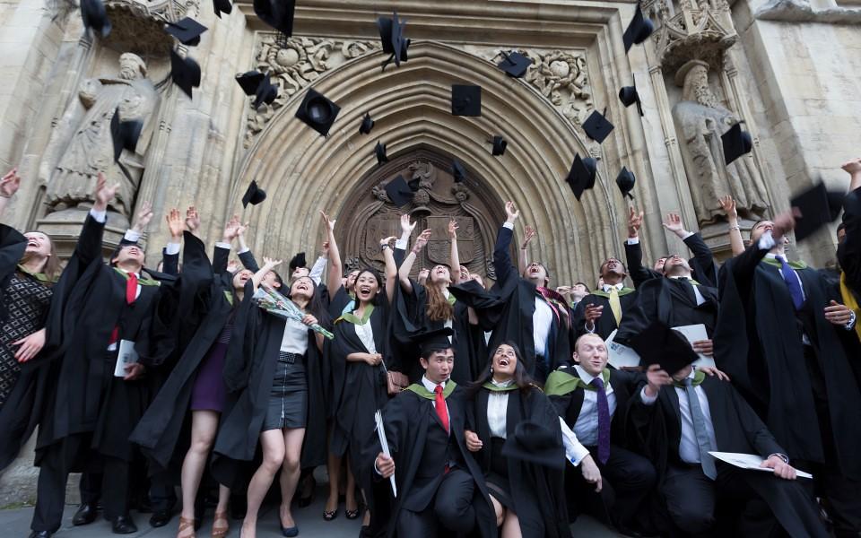 Graduation outside the Abbey