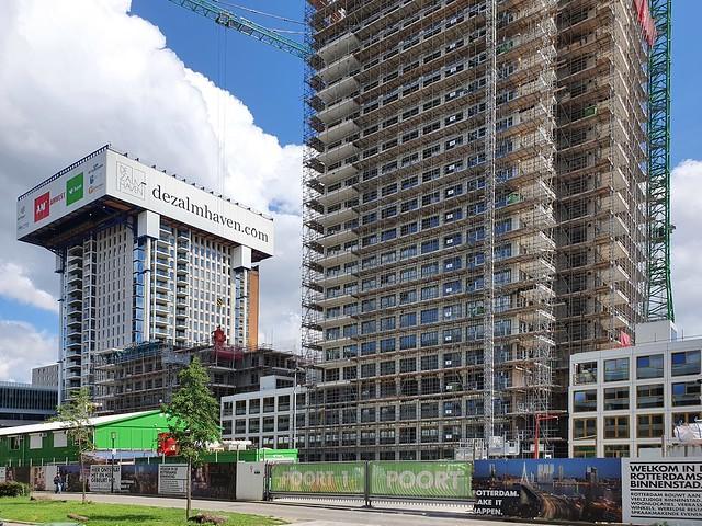 Zalmhaventoren bouw 21-7-2020