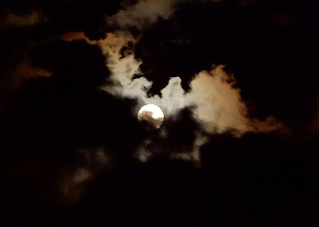 pre-eclipse sun and clouds