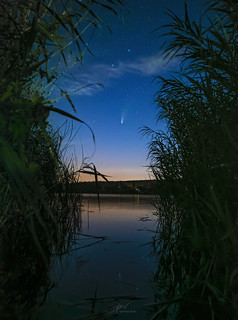 Comet NEOWISE over the Losheim lake