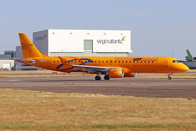 SP-LNO  -  Embraer ERJ-195LR  -  LOT Polish Airlines  -  LHR/EGLL 22/7/20