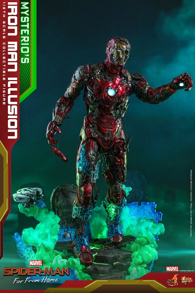 彼得心中的夢魘可動再襲! Hot Toys《蜘蛛人:離家日》神秘客的鋼鐵人幻象(Mysterio's Iron Man Illusion)1/6 比例人偶 公開
