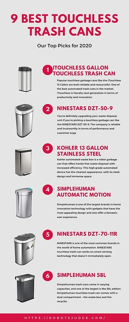 9 Best Touchless Trash Cans.