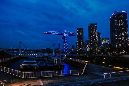 Toyosu urban dock Lalaport nignt scape 03