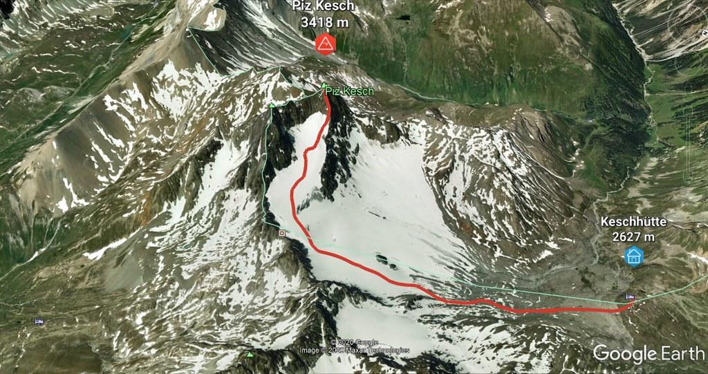 Piz Kesch - Chamanna Kesch Albula Alpen Švýcarsko foto 02