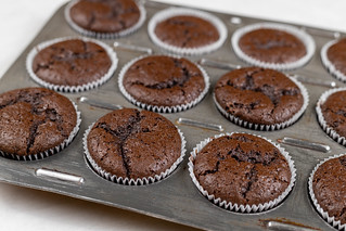 Chocolate Muffins in the baking tray mold | by wuestenigel