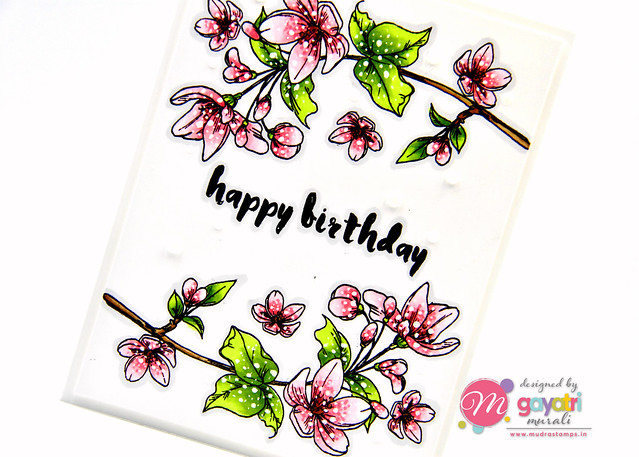 Birthday card #1 closeup