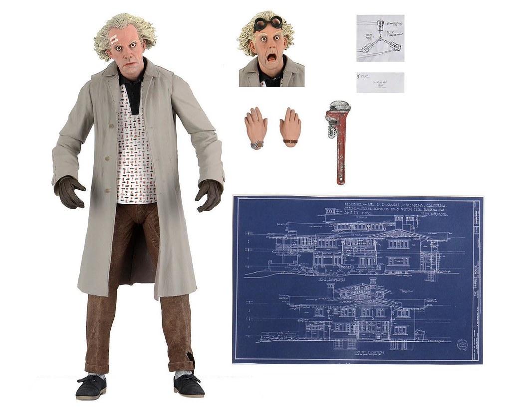 NECA《回到未來》新作「1955 年的布朗博士 (Doc Brown '55)」7 吋可動人偶發表公開~ 兩款「馬蒂‧麥佛萊(Marty McFly)」包裝盒官圖發表!