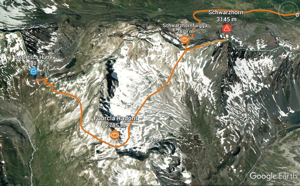 Schwarzhorn, Haute Route Graubünden, day 5 Albula Alpen Švýcarsko foto 03