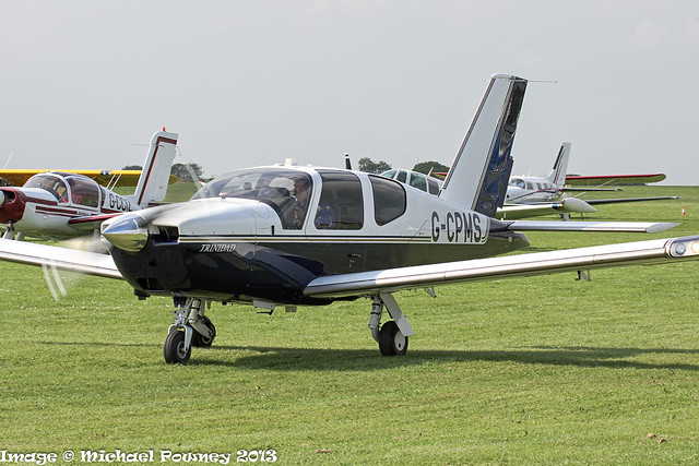 G-CPMS - 1994 build Socata TB20 Trinidad, taxiing for departure at Sywell during Aero Expo 2013