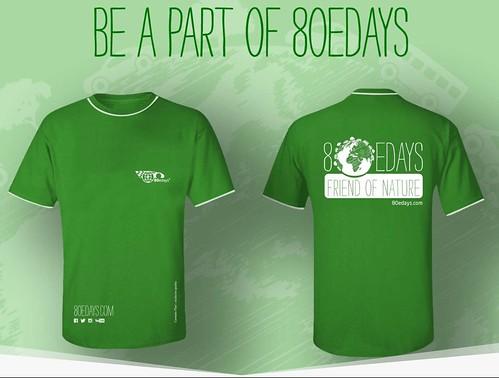 Camisetas 80eDays, para ser parte del proyecto