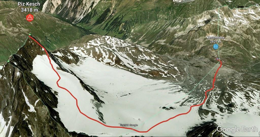Piz Kesch - Chamanna Kesch Albula Alpen Schweiz foto 04