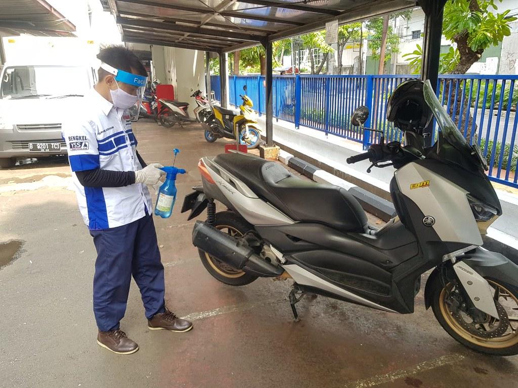 Pelayanan kepada konsumen di jaringan resmi Yamaha di era new normal (4)