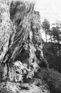 C'est dans une corniche de la falaise du Mont-Orgier que les frondeurs faisaient leur provision d'ossements